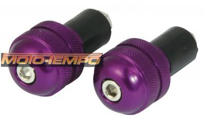 BAR END ROUND 22MM PURPLE
