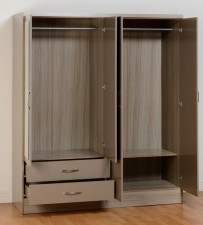 Nevada 02s Nevada Four Door Two Drawer Wardrobe