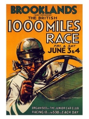 VIN019 Brooklands 1000 Mile Race Print