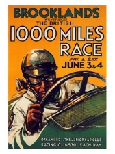Brooklands 1000 Mile Race Print