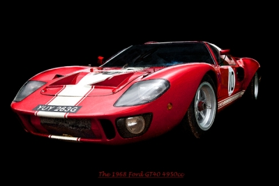 BAL101 Red Ford GT40 Art Print