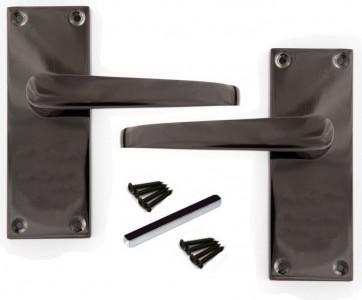victorian black nickel door handles quality. Black Bedroom Furniture Sets. Home Design Ideas