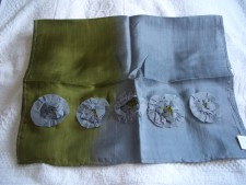 Silk Scarves With Flowers....handcrafted From Vietnam