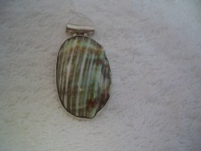 Sterling Silver Pendant With Shell From Bali!!