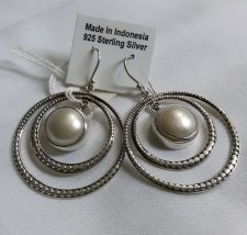 925 Sterling Silver Earrings With Pearl