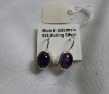 925 Sterling Silver Earrings With Amethyst