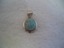 Sterling Silver Pendant With Turquoise From Bali!!