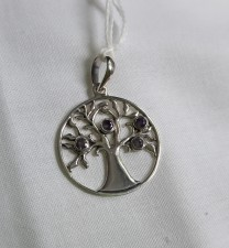 Sterling Silver Pendant With Amethyst