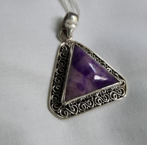 463 sterling silver pendant with charoite