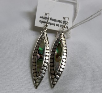 425 925 sterling silver earrings with paua shell