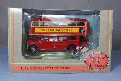 EFE Sutton United FC AEC RTL bus 11113B