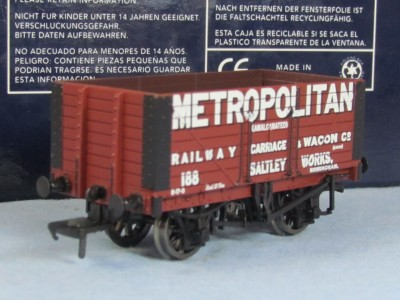 "Bachmann 37-150K 8 Plank Fixed End Wagon ""Metropolitan R C & W Co"" Exclusive To Bachmann Collectors' Club"""