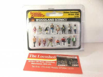 Woodland Scenics Scenic Accents Sixteen Passengers HO Scale A1908