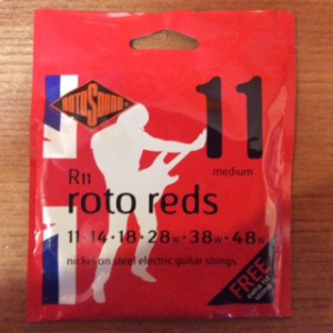 RotoSounds RotoRed R11 11 Gauge electric guitar strings