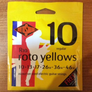 RotoSounds Roto Yellow 10 Gauge electric guitar strings
