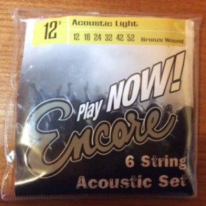 Encore strings acoustic 12's  for Guitar
