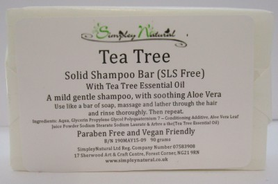 Tea Tree SLS FREE Solid Shampoo