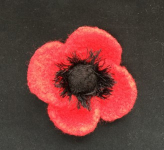 Felted Red Poppy