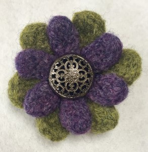 Double Daisy Brooch