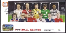 Football Heroes Set Of Stamps In Miniature Sheet Fdc
