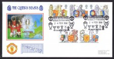 Man U Fdc - Queens Beasts 1998