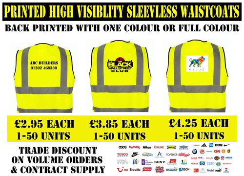 Printed High Visibility Clothing Hi Vis Vests Cheap From 2 80