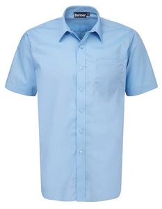 Twin Pack Blue Unisex Shirts ( Boys )