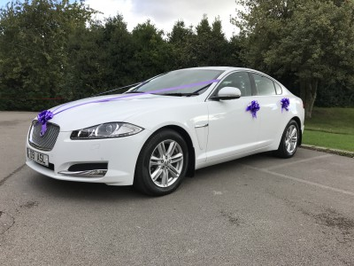 White Jaguar XF Luxury S