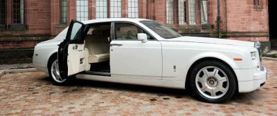 White Rolls Royce Phanton