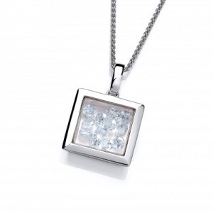 Cavendish French Mini Square Celestial Pendant and Chain