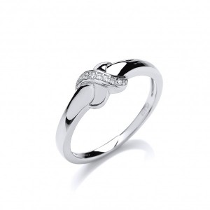 Cavendish French Cubic Zirconia Kiss Ring