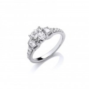 Cavendush French Sparkling Solitaire Ring