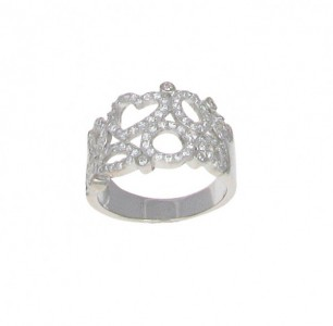 Cavendish French Heart and Loops Cubic Zirconia Ring