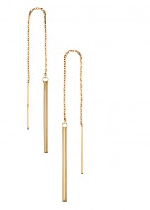 9ct Yellow Gold Pull Through Earrings