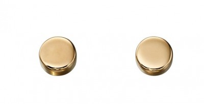 9ct Yellow Gold Disc Stud Earrings