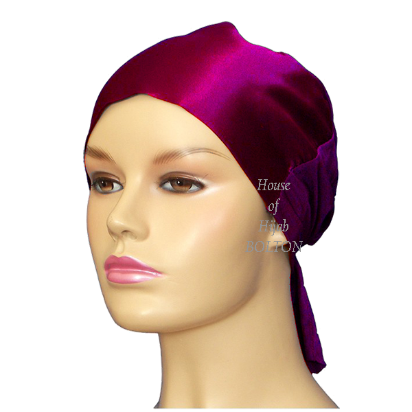 Satin Tie Back (Plum)
