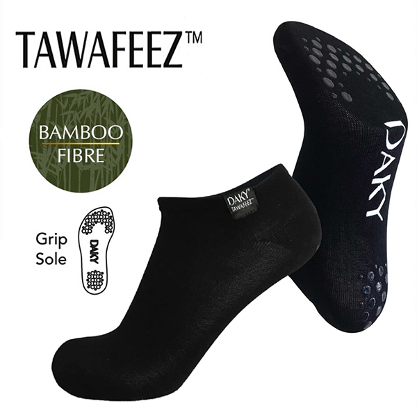 DAKY (Tawafeez) - Bamboo Socks with Grip Sole