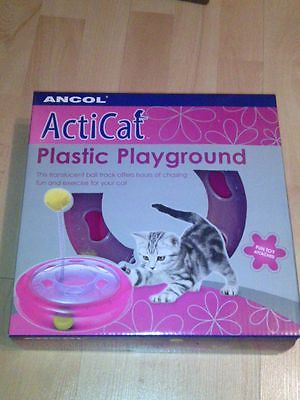 Ancol Cat Playground Interactive  Motion Pink Cat Toy