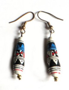ethnic earrings, peruvian aztec earrings,