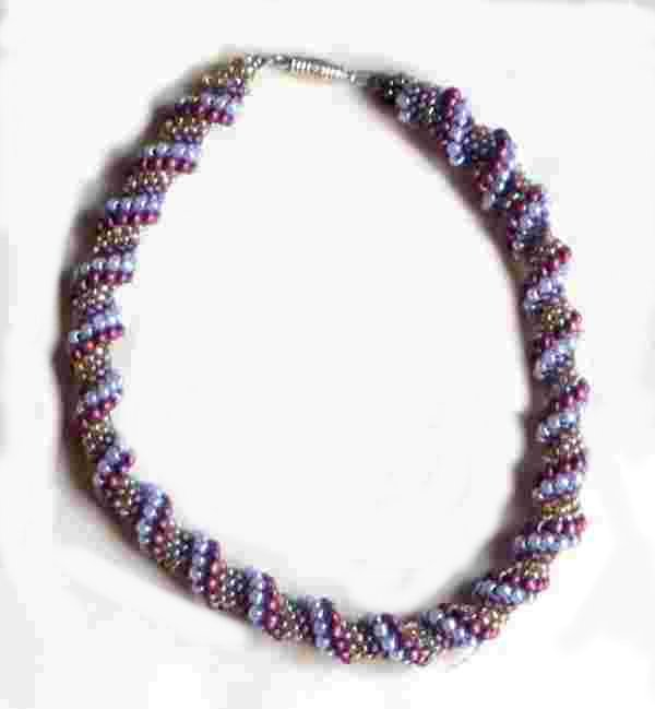 beaded spiral necklace