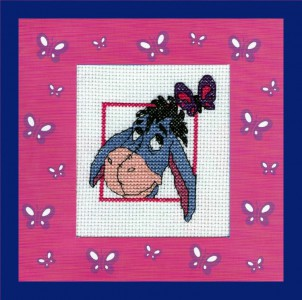 Children's Card ~ Eeyore 'with a butterfly'