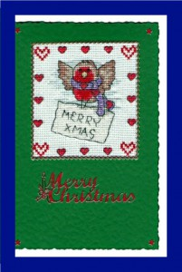 Robin ~ Christmas Card in Cross Stitch