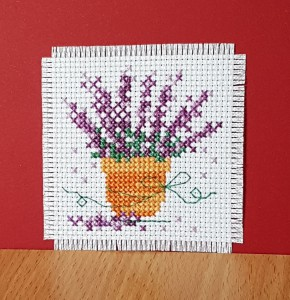 Bowl of Flowers ~ Flower Card in Cross Stitch