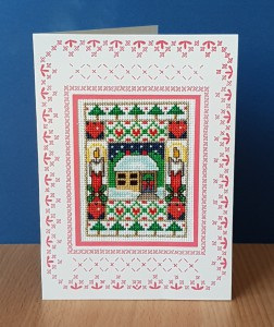 Christmas 'At Home' ~ Christmas Card in Cross Stitch