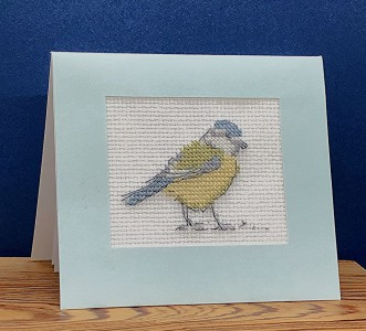 Bird Picture: 'yellow breasted chat' in Cross Stitch