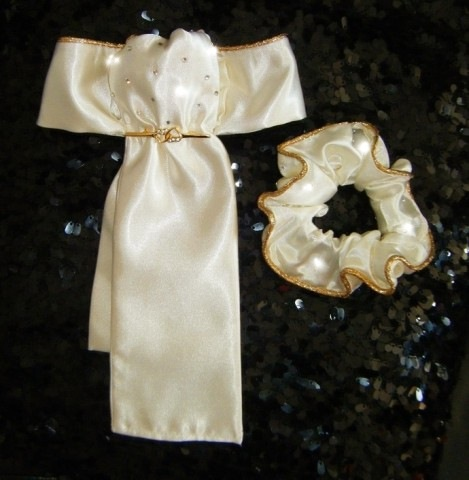 STOCKS and SCRUNCHIES with METALLIC PIPING