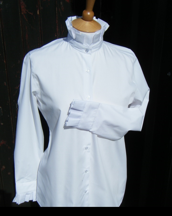 WHITE FRILLY LEAD REIN BLOUSE, SPECIAL OFFER - LAST ONE!