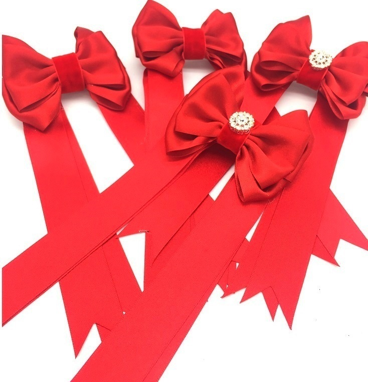 LUXURY PIGTAIL BOWS