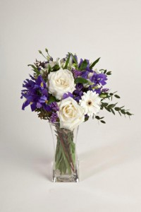 SPR009 Spring blue and white perfumed bouquet. 45.00 Delivery included